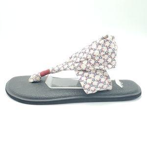 Sanuk Yoga Mat Sling star print patriotic sandals
